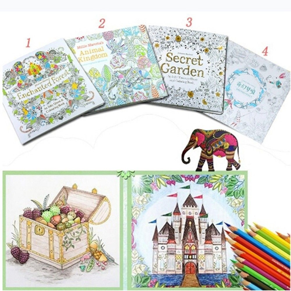 Coloring book for adults for pc - 1 Pc 2017 Popular Kids Adult Mixed Styles Relieve Stress Fantasy Dream Painting Drawing Secret Garden Kill Time Coloring Book