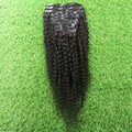 African American Clip In Human Hair Extensions 9pcs Brazilian Virgin Human Hair Afro Kinky Clip In Extensions Natural Black Hair