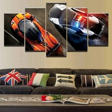 High Quality Canvas HD Printed Painting 5 Panel Cartoon Game Need For Speed Wall Art Picture Living Room Home Decorative