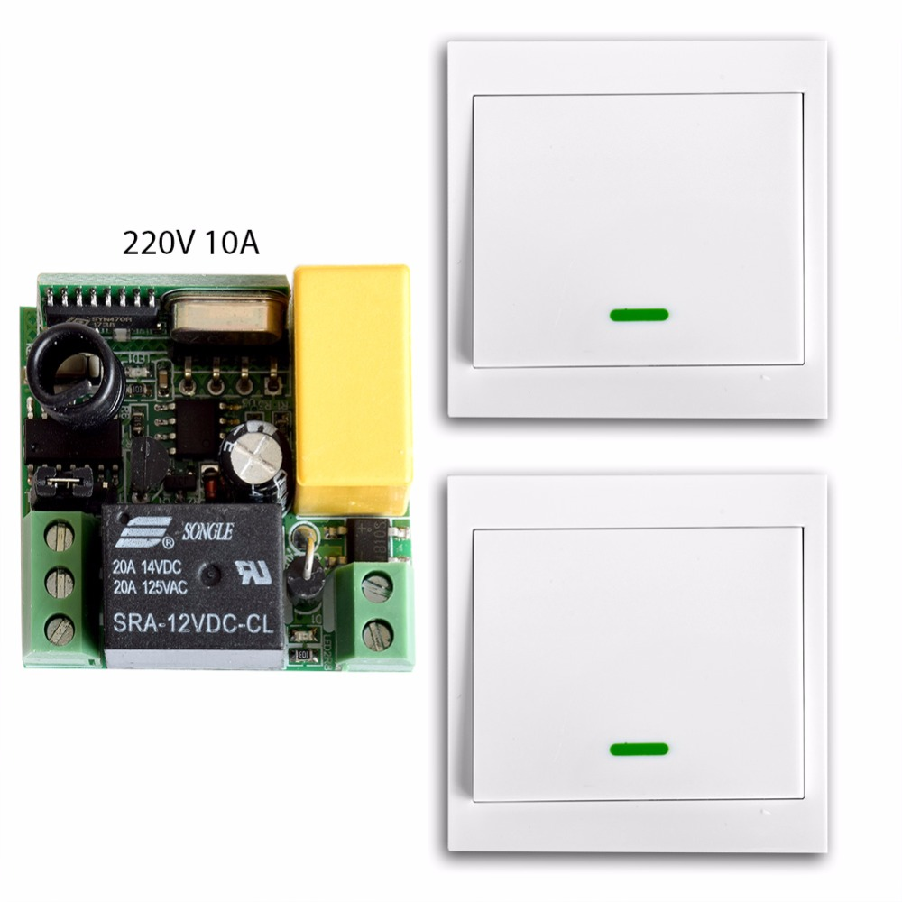 SMARSECUR Smart Home 10A 220V 1CH RF Remote Control Switch System For LED Lamp Light Strips,Receiver +86 Wall Transmitter 220v wireless remote control switch system rf 4 receivers 3transmitter for led light lamp freeshipping