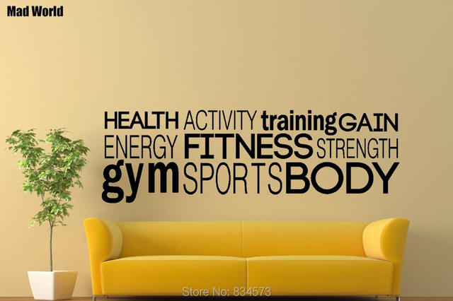 Mad World Gym Workout Healthy Body Activity Training Wall Art ...