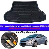 Rear Boot Cargo Liner Tray Trunk Luggage Floor Carpet Mats Carpets Pad For Hyundai Elantra Avante i35 2011 2012 2013 2014 2015