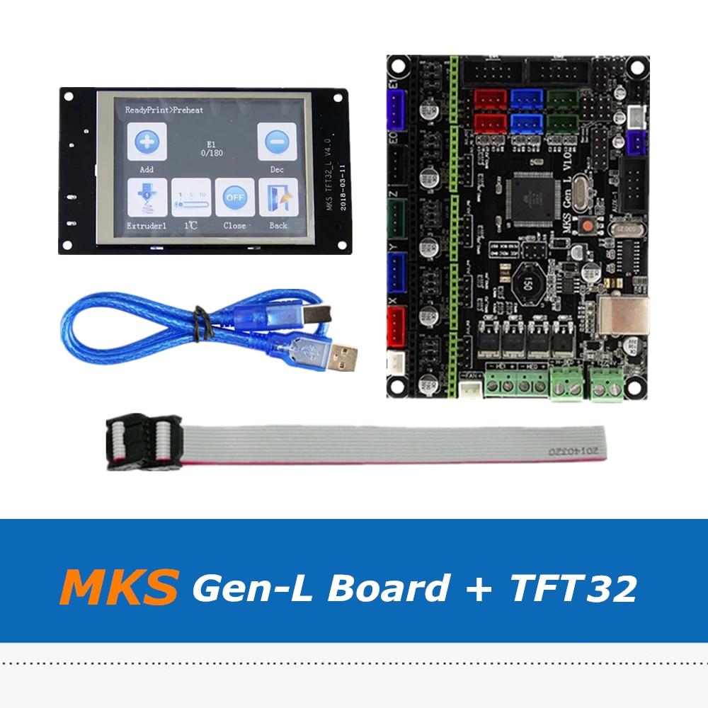 3D Printer Part MKS Gen L V1.0 Integrated Control Board Set + 3.2inch MKS V4.0 TFT32 Full Color Touch Screen
