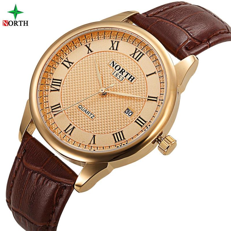მამაკაცები Watch Fashion Male Wristwatch ძვირადღირებული ბრენდი 30M წყალგაუმტარი ნამდვილი ტყავის შემთხვევითი საათი 2017 სამხედრო კვარცი ბიზნეს Watch