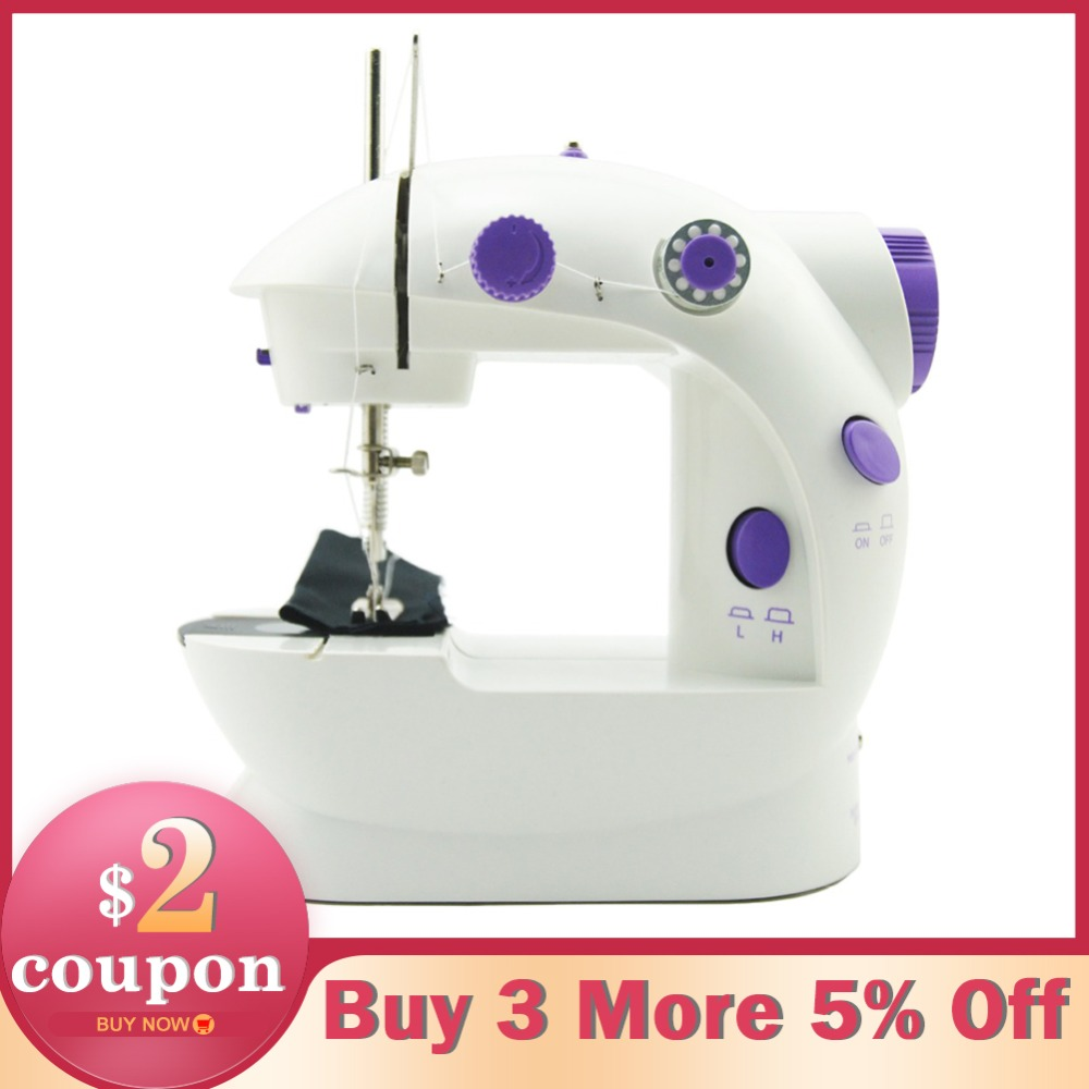 Electric Mini Sewing Machine For Home Hand Machine To Sew 110/220V Speed Adjustment with Light Handheld Sewing Machine maquina de coser de mano