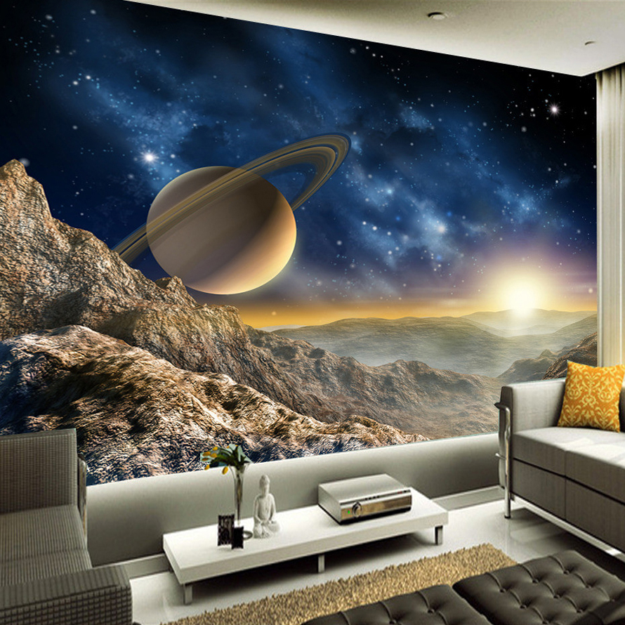 beibehang Custom 3D Photo Wallpaper Space Universe Photography Background Home Decor Wall Painting Living Room Mural Paper custom 3d photo wallpaper star planet universe space planet mural wall paper ceiling living room bedroom 3d wall mural wallpaper