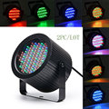 2 ШТ./ЛОТ Мини Голосом Управления 86 LED Disco Party DJ Par домашний Свет Музыкальное Шоу Строб Проектор Освещение Сцены Влияние бар свет