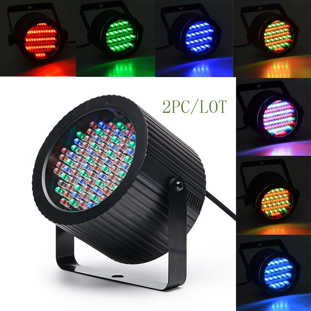 2PC / LOT Mini Voiced Control 86 LED Disco Party DJ Par Home Light Music Show Strobe Projector Stage Lighting Effect bar light