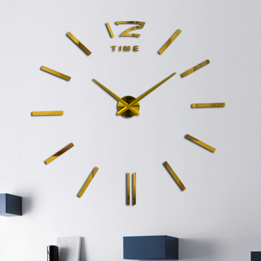 Mode acryl spiegel diy uhr uhr wandaufkleber uhren reloj de pared - Wohnkultur - Foto 4