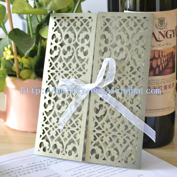 200pcs Lot Wedding Invitations Black White And Red Red Filigree