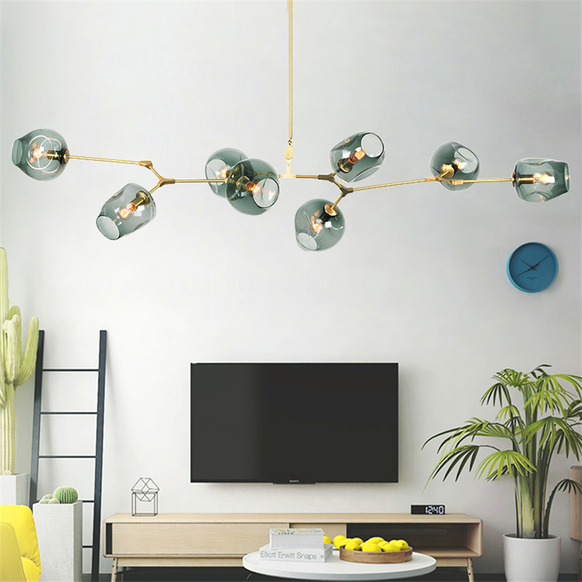 Knap Moderne Led Glas Opknoping Lamp Licht Hanger Eetkamer Bed Room Slaapkamer Bal Zwart/goud Hanglampen Keuken Armaturen Armatuur Geurige (In) Smaak