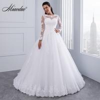 Бальное платье 2 в 1 Свадебные платья 2018 съемный шлейф кружево аппликации жемчуг Vestido De Novias Vestidos de Noiva