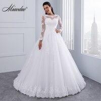 Бальное платье 2 в 1 Свадебные платья 2019 Съемная Поезд аппликационные Жемчужины для Кружева Vestido De Novias Vestidos Noiva