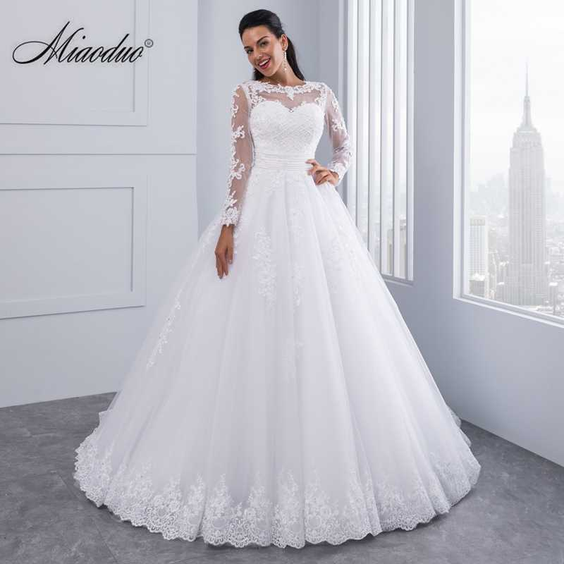 d520dd9c59e5 Ball Gown 2 in 1 Wedding Dresses 2019 Detachable train Lace Appliques  Pearls Bridal Gowns Vestido