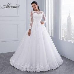 Vestido de baile 2 em 1 vestidos de casamento 2019 trem destacável rendas apliques pérolas vestidos de noiva vestidos de novias