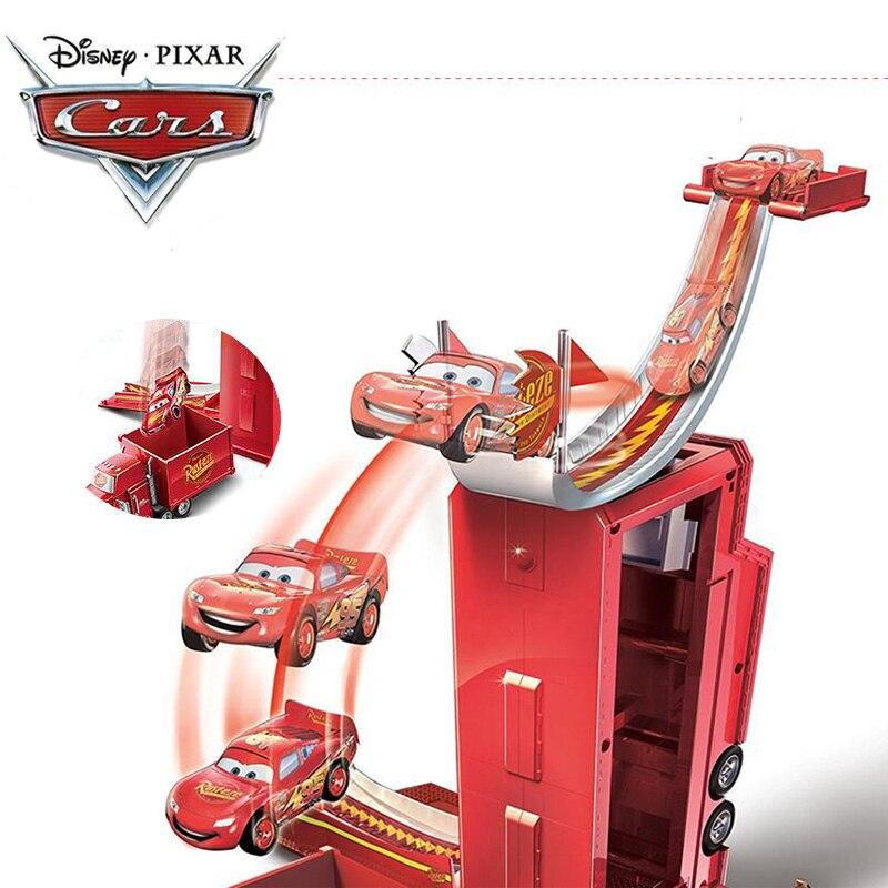 2018 Disney Pixar Voitures 3 Transformer Mack Portique Sans Voitures Éclairage MCQUEEN ABS Voiture Jouets Moulé Sous Pression Modèle Voitures pour Garçon