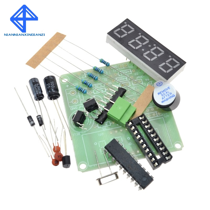 At89c2051 Digital 4 Bits Electronic Clock Production Suite Diy Kit