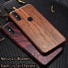 Caixa do telefone de madeira natural para xiao mi 8 caso capa de madeira de gelo preto, romã madeira, noz, rosewood para mi 8 pro