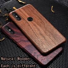 Funda de teléfono para Xiaomi de madera Natural Mi 8 case cover madera de hielo negra, madera de Granada, nogal, palisandro para MI8 PRO