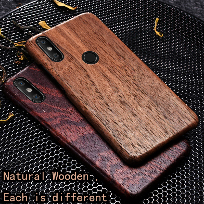 Natural Wooden phone case FOR Xiaomi Mi 8 case cover black ice wood,Pomegranate wood,Walnut,Rosewood For MI8 PRO