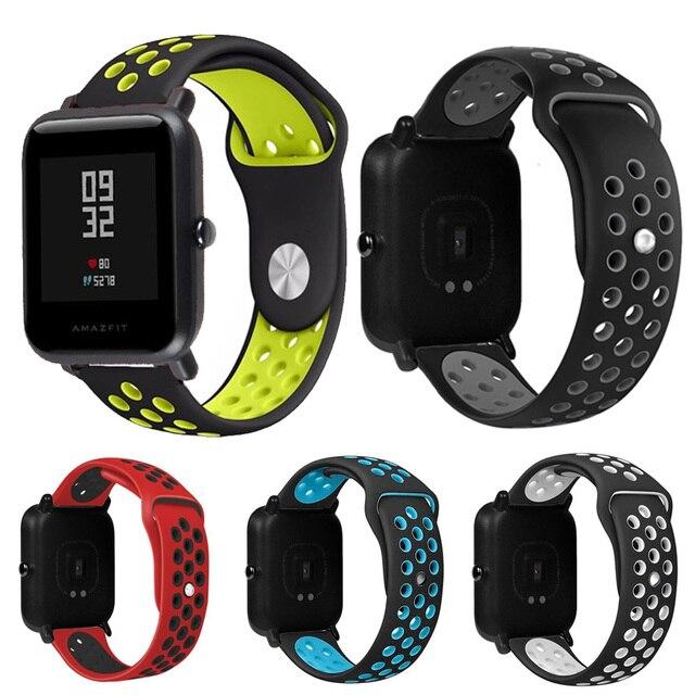 1 piezas de silicona de la correa para Huami Amazfit banda inteligente rastreador de Fitness accesorios para Xiaomi Amazfit Bip pulsera Correa huami