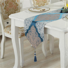 SBB European Bursting modern luxury elegant Embroidery Table Runners Home Decoration Countryside classical table flags