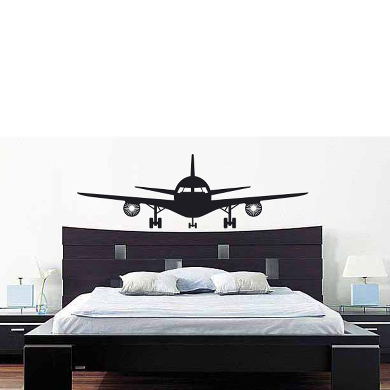 Buy buckoo removable wall stickers for Airplane wall decoration