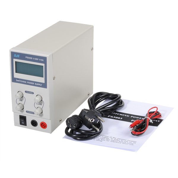 PS3005 220 V-230 V professionnel DC alimentation à découpage 30 V 5A numérique réglable DC alimentation