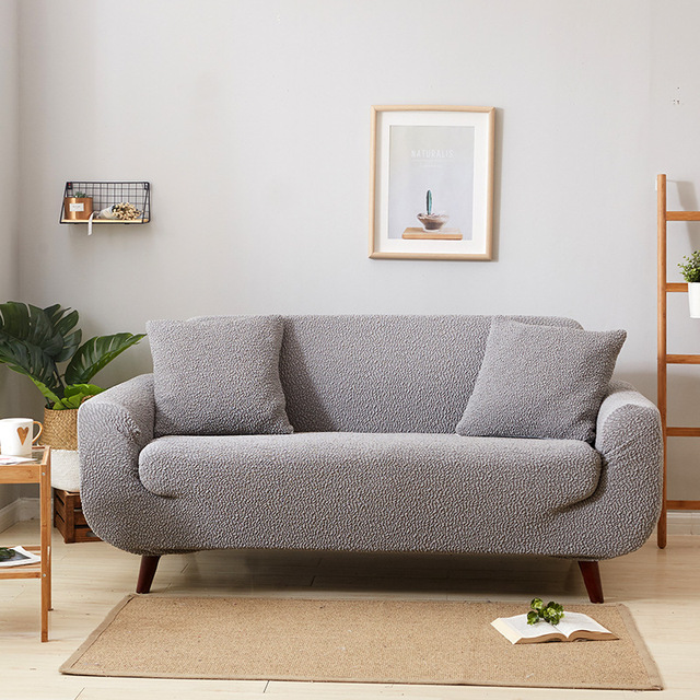 Ogromny Moda krotnie elastyczna sofa pokrywa jednolity pokrowce na fotele PO52