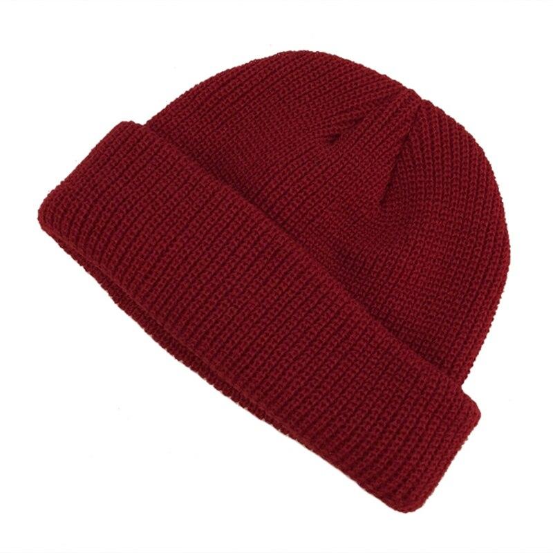 2019 New Knit Cap Solid Color Autumn Winter Hat Men Short Head Cap Outdoor Warm Melon Cap Street Head Cap For Woman