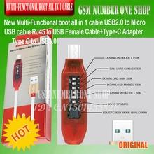 מיקרו USB RJ45 משולב אתחול כל ב 1 כבל עבור Qualcomm EDL/DFC/9008 מצב תמיכה תשלום מהיר MTK/SPD תיבת תמנון תיבה