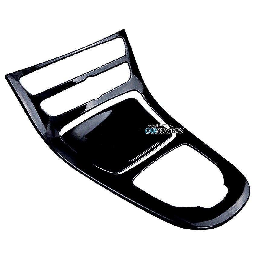 Carmonsons Console centrale de voiture décoration de protection cadre revêtement d'habillage pour Mercedes Benz classe E W213 accessoires style de voiture