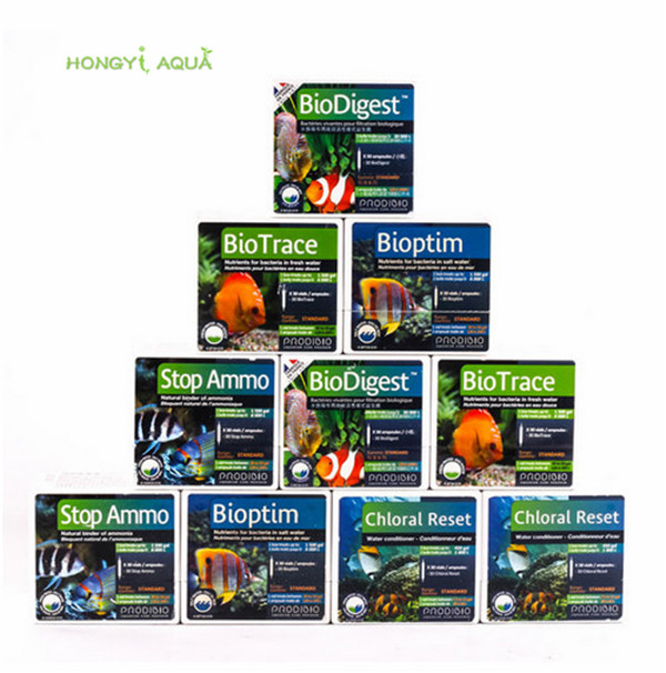 30 stücke trank luftreinigungsmittel biodigest bioptim biotrace biovert korallen vits stronti + riff booster stop ammo biokit riff