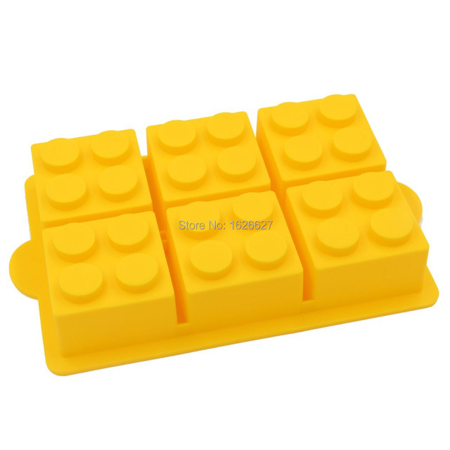Cake Decorating Mould Big Lego Silicone Ice Mold Blocks Shaped 6 Bricks Ice  Cream Tools Cream