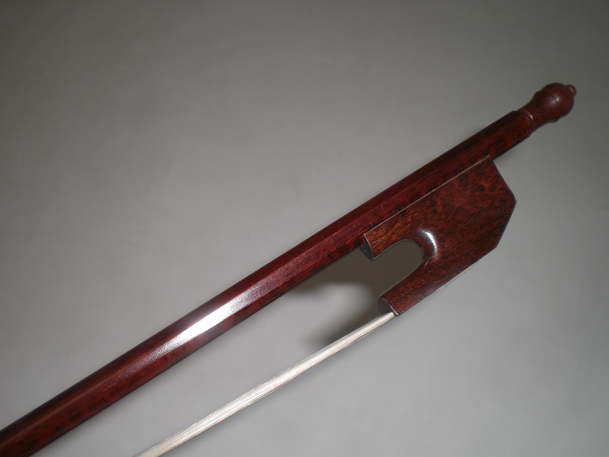 1 pieza nuevo tipo Cello arco serpiente madera barroco Cello arco 4/4 pelo blanco - 2