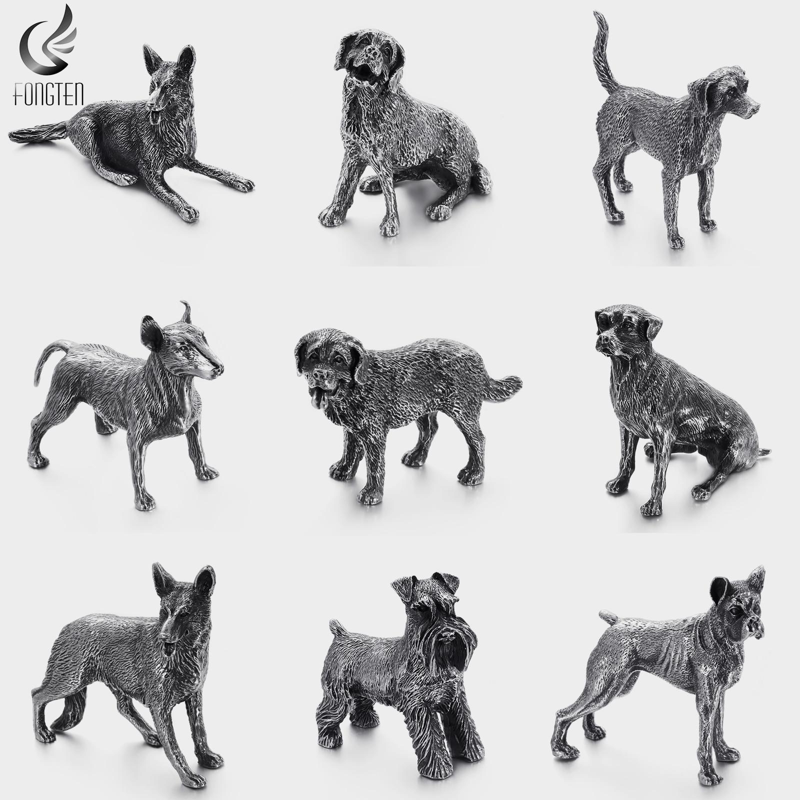 Fongten rétro animaux animaux de compagnie Rottweiler Labrador Beagle Schnauzer chien métal exposition Pet Shop accueil affichage