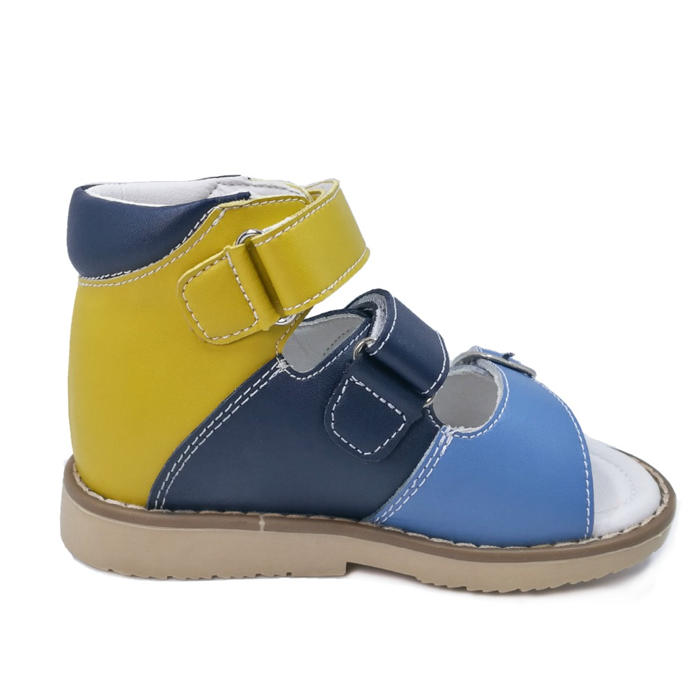 Children boys hook and loop summer genuine leather sandals kids orthopedic shoes in euro size23 to33-in Sandals from Mother & Kids    2