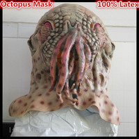 Free Shipping Cosplay Wode Doctor Octopus Halloween Mask Ood Aliens Strange Headgear Party Supplies Mask Decoration