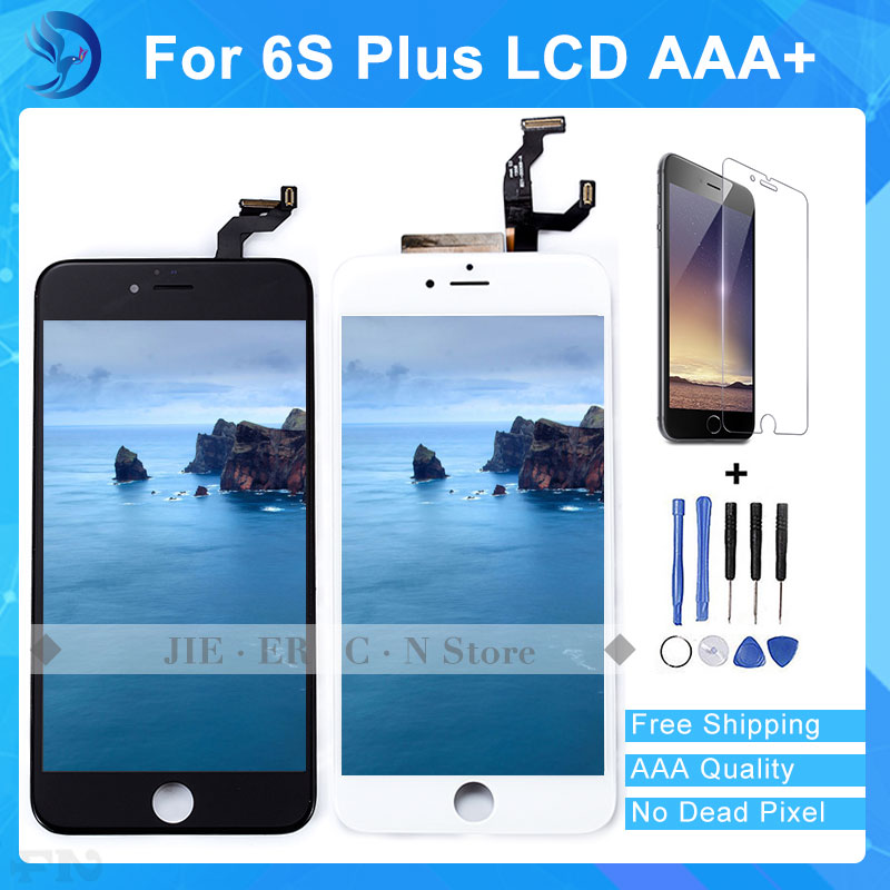 ФОТО 1pcs  AAA Quality No Dead Pixel 5.5 inches LCD Screen For IPhone 6s Plus LCD Replacement  Black  White Free DHL Ship