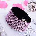 2017 New Hot Crystal Rhinestone Bracelet For Women Magnetic Buckle14 row Fashion Charm Bijoux Bracelets