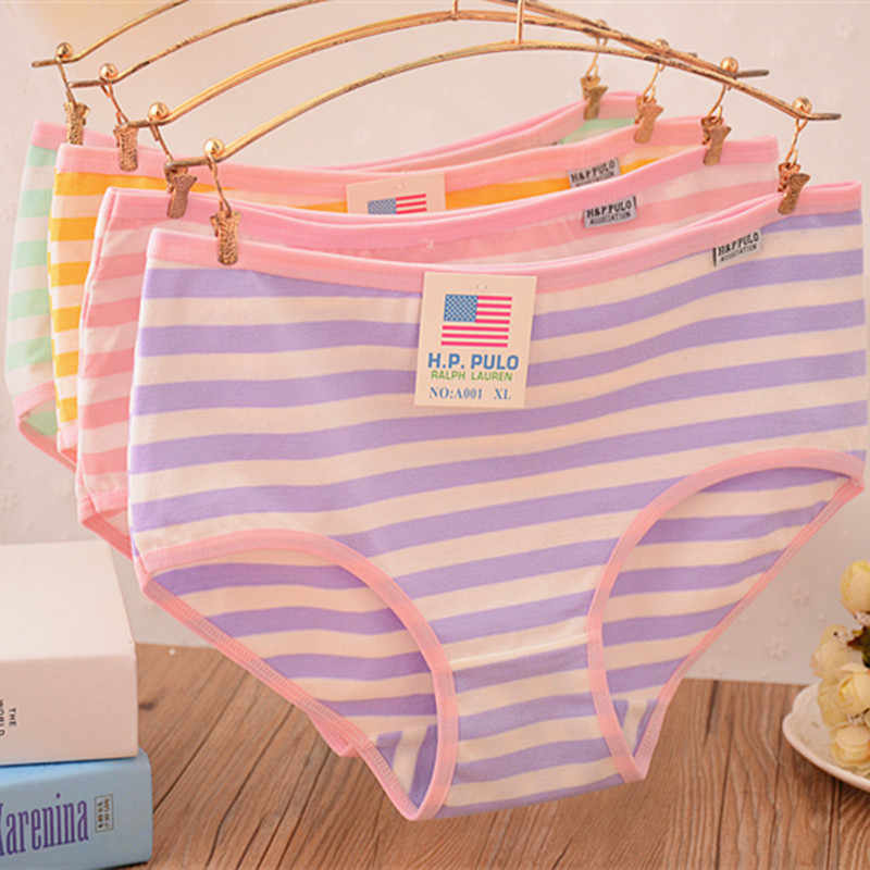 bcce58e2b337 underwear women briefs stripe cotton underwear bragas thongs cute Navy XL  women panties|women panties|woman briefs|underwear women briefs - AliExpress