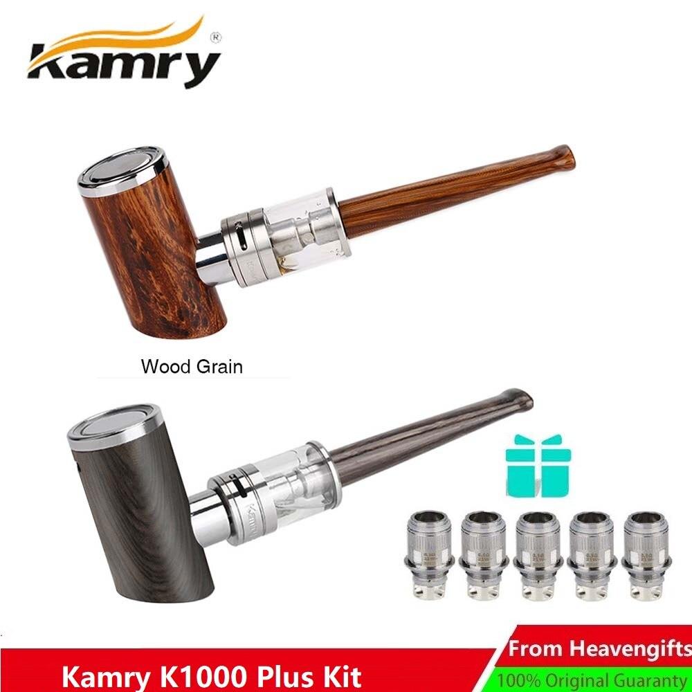 Kamry K1000 Plus ePipe Kit électronique narguilé stylo 1000 mAh avec 4 ml K1000 Plus atomiseur réservoir e-pipe en bois Design vapeur e-cig Vape
