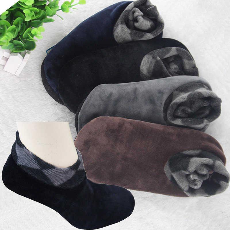 Unisex ผู้หญิงผู้ชายฝ้ายถุงเท้าอบอุ่นฤดูหนาวหนาไม่ลื่นถุงเท้าอุ่นถุงเท้า Boot หิมะอุ่น Sokken calcetines