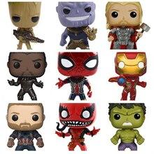Marvel Avengers Infinity War Thanos Ironman Spiderman Thor Captain American Venom Hulk Black Panther Figure Vinyl