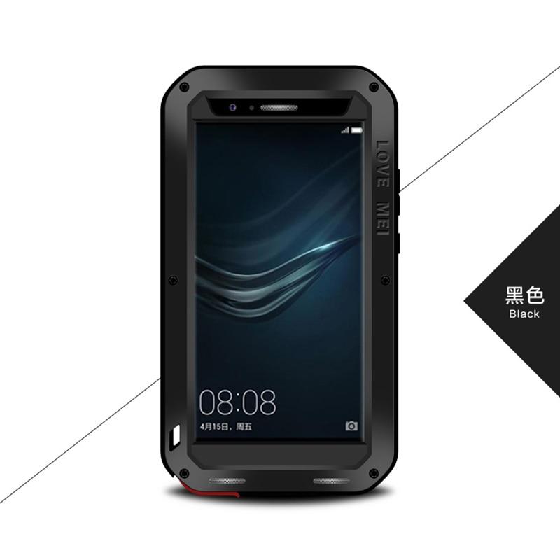 imágenes para Original Amor Mei Metal De Aluminio Caso de Gran Alcance para las Cajas Del Teléfono Celular A Prueba de Golpes Para Huawei Huawei P9 P9 w/Vidrio templado
