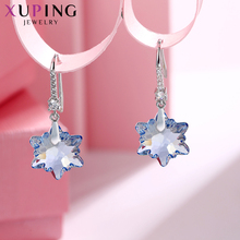 Xuping Snowflake Shape Earrings for Ladies Crystals from Swarovski Hypoallergenic Romantic Jewelry  Family Party Gifts M63-20220