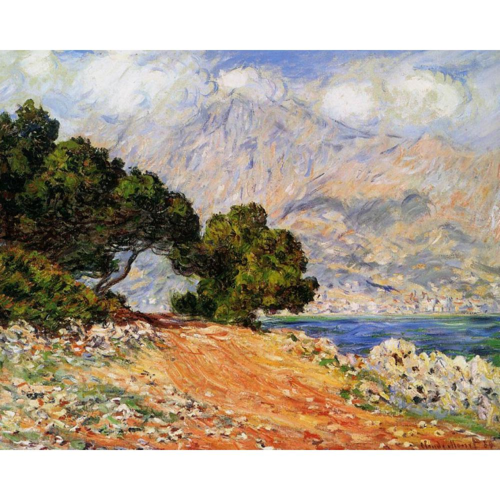 Meton Seen from Cap Martin by Claude Monet Oil paintings reproduction Landscapes art hand-painted home decorMeton Seen from Cap Martin by Claude Monet Oil paintings reproduction Landscapes art hand-painted home decor