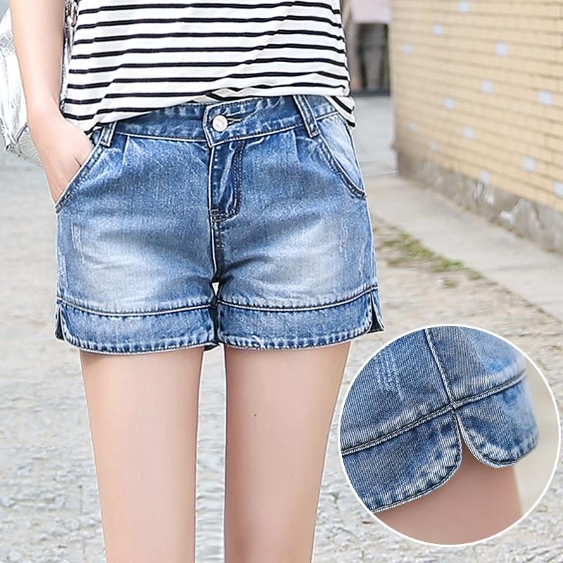 Pflichtbewusst Shorts Frauen Denim Neue Koreanische Stil Sommer Frauen Denim Shorts Feste Blaue Kurze Jeans Gepäck & Taschen