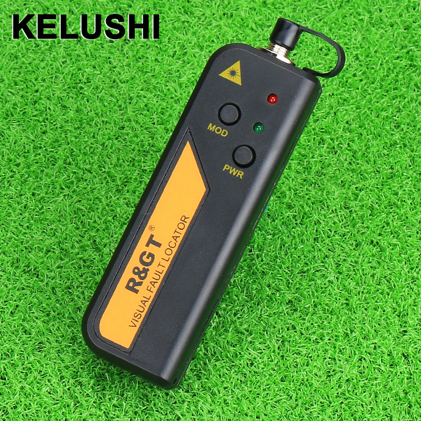 KELUSHI 30mw Red Light Laser Laser Fester Optic Cable Tester Localizator de defecte vizuale, de asemenea, 30KM Checker