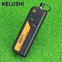 Kelushi 30mw vermelho laser luz fibra óptica cabo testador localizador visual falha também verificador de 30 km